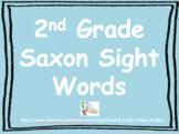 2nd Grade Saxon Sight Words--Complete Set