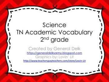 2nd Grade Science Academic Vocabulary
