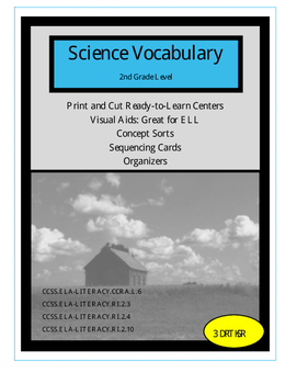 2nd Grade Science Centers:  Academic Vocabulary