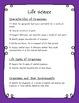 2nd Grade Science Checklist