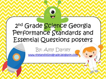 2nd Grade Science Georgia Performance Standards and Essential Questions Posters