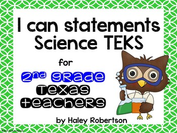 """2nd Grade Science """"I can"""" statements- Circle pattern (using TEKS)"""
