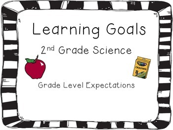 2nd Grade Science Learning Goals Cards