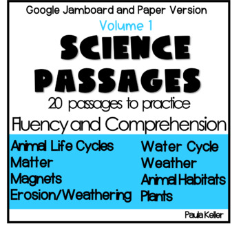 VOLUME 1:  Science Passages for Fluency and Comprehension