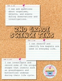 """2nd Grade Science TEKS (2018) """"I can"""" Statements"""