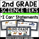 2nd Grade Science TEKS I CAN Statements (*** New Streamlined TEKS!)