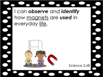 2nd Grade Science TEKS/ I can statements