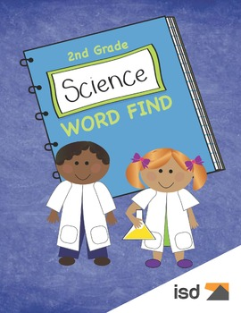 2nd Grade Science Vocabulary Word Find Puzzles with Answer Keys