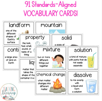 NGSS & Inspire Science Vocabulary & Word Wall Cards - 2nd Grade