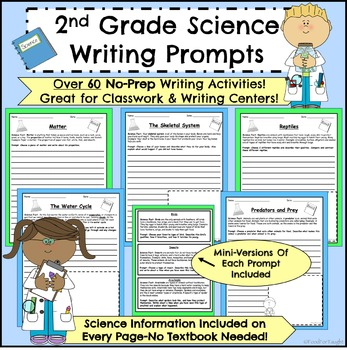 2nd Grade Science Writing Prompts