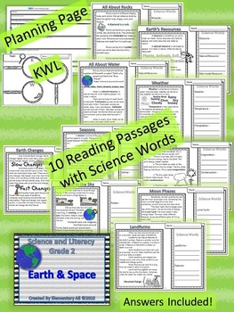 2nd Grade Science and Literacy: Earth and Space (STAAR & NGSS)
