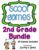 2nd Grade Scoot BUNDLE (25 Games Total)
