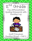 2nd Grade Scott Foresman Reading Street Homework- Unit 2- Spelling & Reading Log