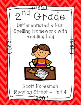 2nd Grade Scott Foresman Reading Street Homework- Unit 4- Spelling & Reading Log