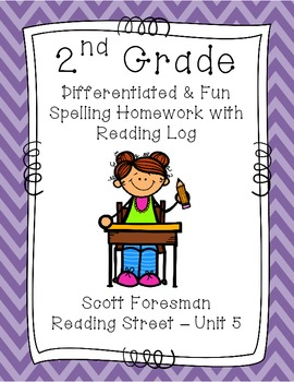 2nd Grade Scott Foresman Reading Street Homework- Unit 5- Spelling & Reading Log
