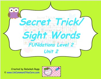 2nd Grade Secret Trick/Sight Words Unit 2