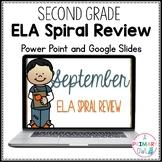 2nd Grade September ELA Spiral Review Morning Work PowerPo