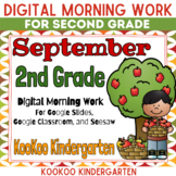 Google Classroom September Morning Work for Second Grade
