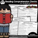 2nd Grade September Reading Comprehension Checks