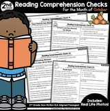 Reading Comprehension Passages and Questions: October (2nd Grade)