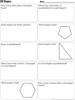 2nd Grade Shapes - Common Core 2.G.1
