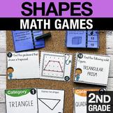 2nd Grade Shapes Math Centers   Math Games 2.G.1