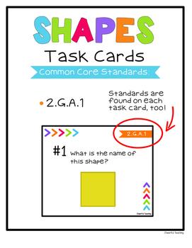 2nd Grade Shapes Task Cards