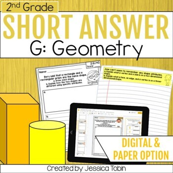 2nd Grade Short Answer- Geometry Word Problems