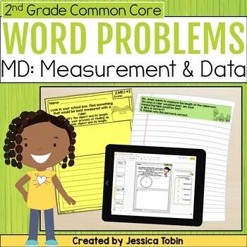 measurement and data 2nd grade math short answer word problems tpt. Black Bedroom Furniture Sets. Home Design Ideas
