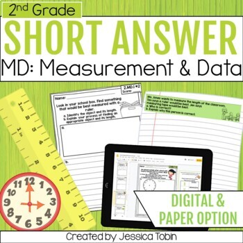 Measurement and Data- 2nd Grade Math Short Answer Word Problems