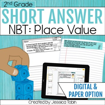 2nd Grade Math Short Answer- Numbers and Operations in Base Ten NBT, Place Value