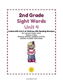 2nd Grade Sight Word Activities Unit 4