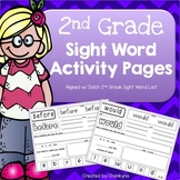 2nd Grade Sight Word Activity Pages