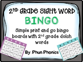 2nd Grade Sight Word Bingo