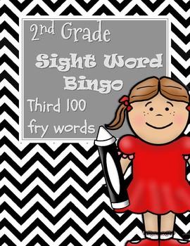 2nd Grade Sight Word Bingo-Third 100 Fry Words