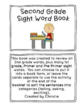 2nd Grade Sight Word Book