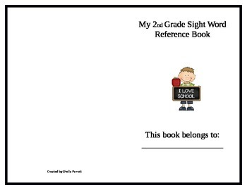 2nd Grade Sight Word Booklet