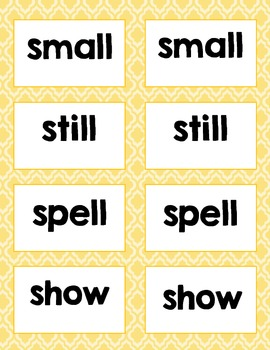 2nd Grade Sight Word Cards {Matching Game or Word Wall Cards} 74 words