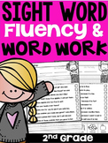 Second Grade Sight Words Fluency and Word Work with Self Check!