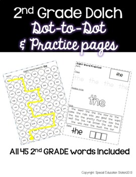 2nd Grade Sight Word Practice Sheets: Dot to Dot and Stamp