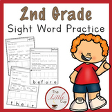 2nd Grade Sight Word Practice Worksheets