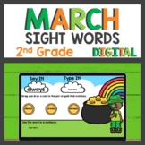 2nd Grade Sight Word Practice for Google Classroom™ for Di