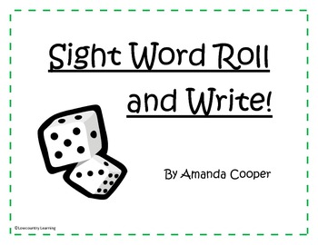 2nd Grade Sight Word Roll and Write