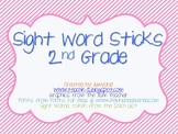 2nd Grade Sight Word Sticks