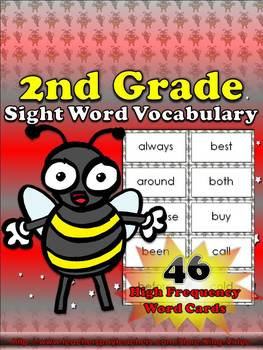 2nd Grade Sight Word Vocabulary - 46 High Frequency Word Cards - King Virtue