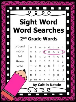 2nd Grade Sight Word Word Searches
