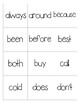 2nd Grade Sight Word and Word Shape Memory