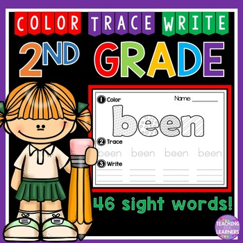 2nd Grade Sight Words: Color, Trace, Write