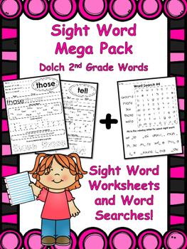 2nd Grade Sight Words Mega Pack