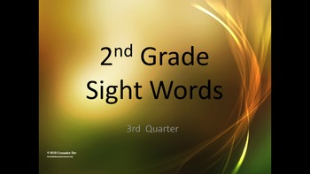2nd Grade Sight Words Practice Center ELL RTI GEI  Interve